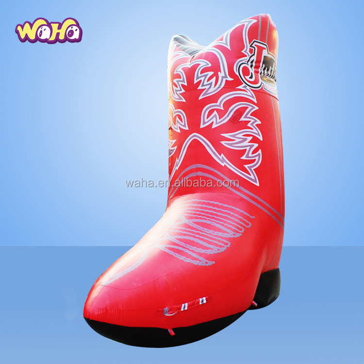 Giant 4M Red Inflatable Boots/Shoes Shapes,Advertising Inflatables