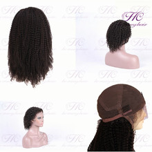 Most selling products wholesale cheap celebrate natural black virgin Peruvian human hair full lace wig