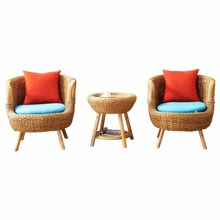 True rattan chair tea table 3 sets outdoor chair coffee shop home stay hotel rattan arranges <strong>furniture</strong>