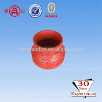 ductile iron reducing bend ductile iron concentric reducer FM UL Approved Ductile Iron Grooved Reducing Coupling