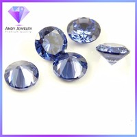 Best selling round shape loose tanzanite cz gems stone