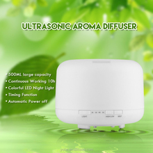 Office ultrasonic aroma diffuser 500ml electronic measuring system with led changing light aroma diffuser