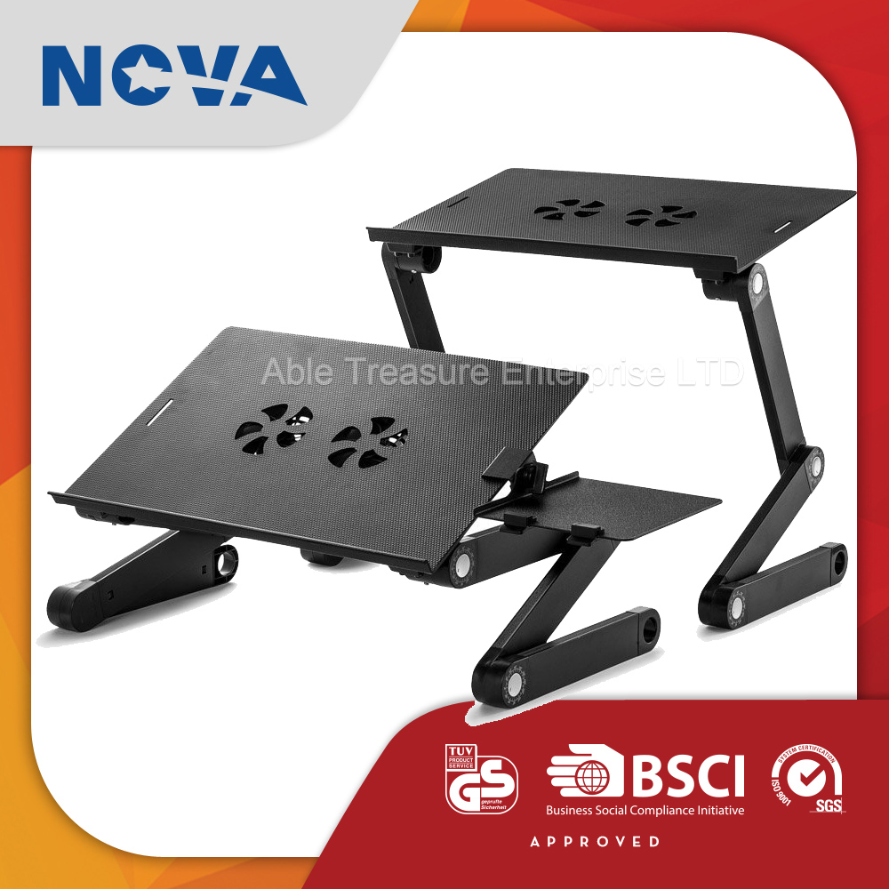 Wholesale aluminum alloy adjustable height laptop stand with cooling fan