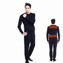 Wholesale Polyester Winter Fitness Thick Self-heating Thermal Underwear for Men Rechargeable Battery Heated Ski Long Underwear