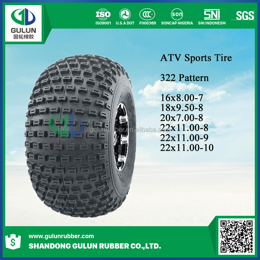 Good China 16*8-7 20*9.5-8 270/30-14 26*10-12 27*11-14 27*9R14 29*9R14 ATV -sport tire for sale