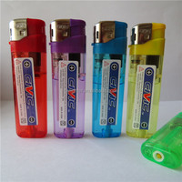 Plastic Good Quality Cigaretter Electric Refillable Gas Lighter