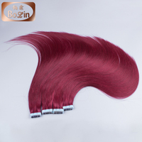 2016 hot sale high quality 100% european hair wholesale tape hair extension