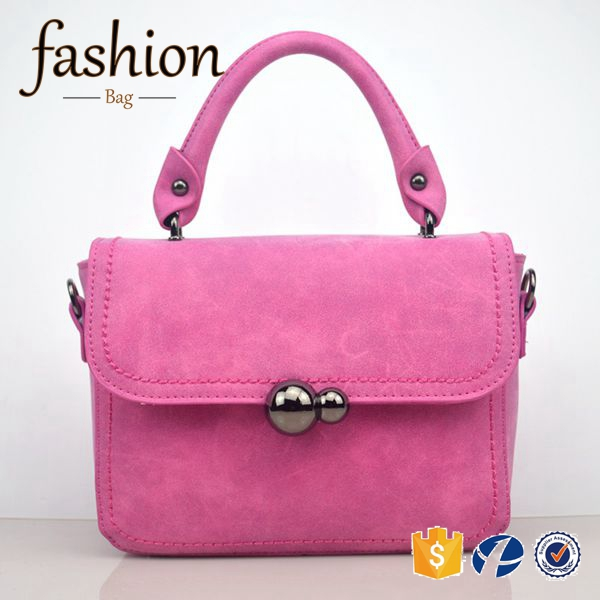 CR ali express top sales fashionable designer famous brand women flap bag short handle rose red leather ladies handbags sale