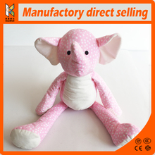Cute Plush Colorful Elephant Soft Stuffed wholesale animal Toy With Big Ears,Pink Grey elephants