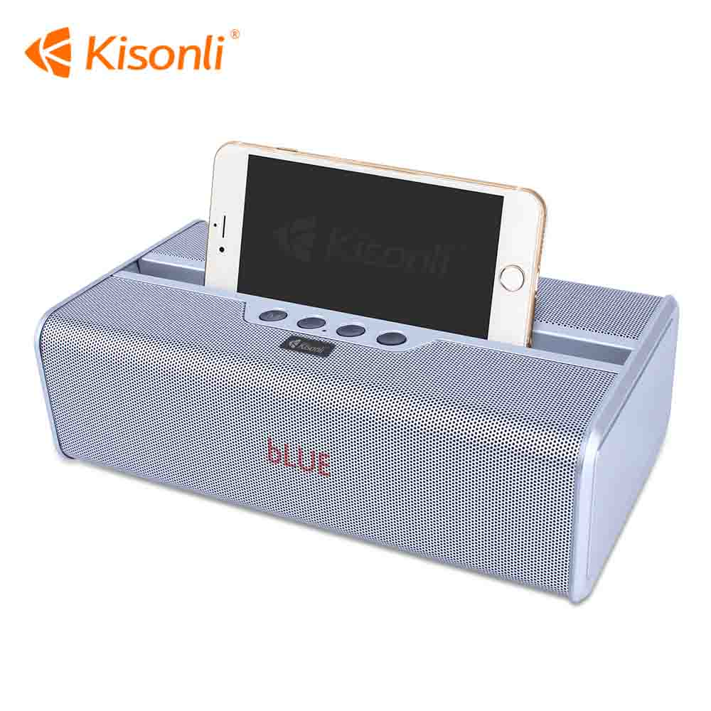 2400mAh 5W*2 Vintage Music Mini Portable Bluetooth Speaker Case With Phone Stand