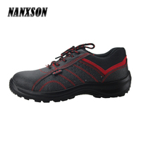 full grain cow genuine leather steel toe cap industrial working training safety jogger shoes with PU outsole