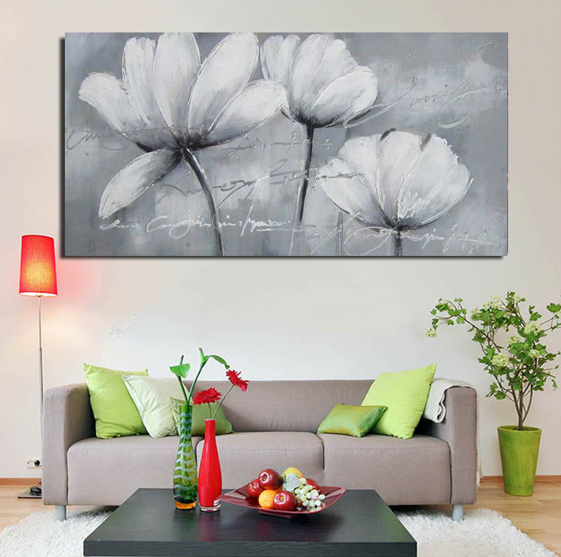canvas picture flower oil painting modern hotel decoration canvas wall art painting