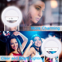 Custom logo brand ring selfie light 24 LED phone of China