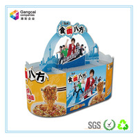 Advertising display stand paper display tray