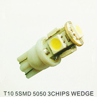 auto led signal light T10 5smd 5050 3Chips Wedge bulbs