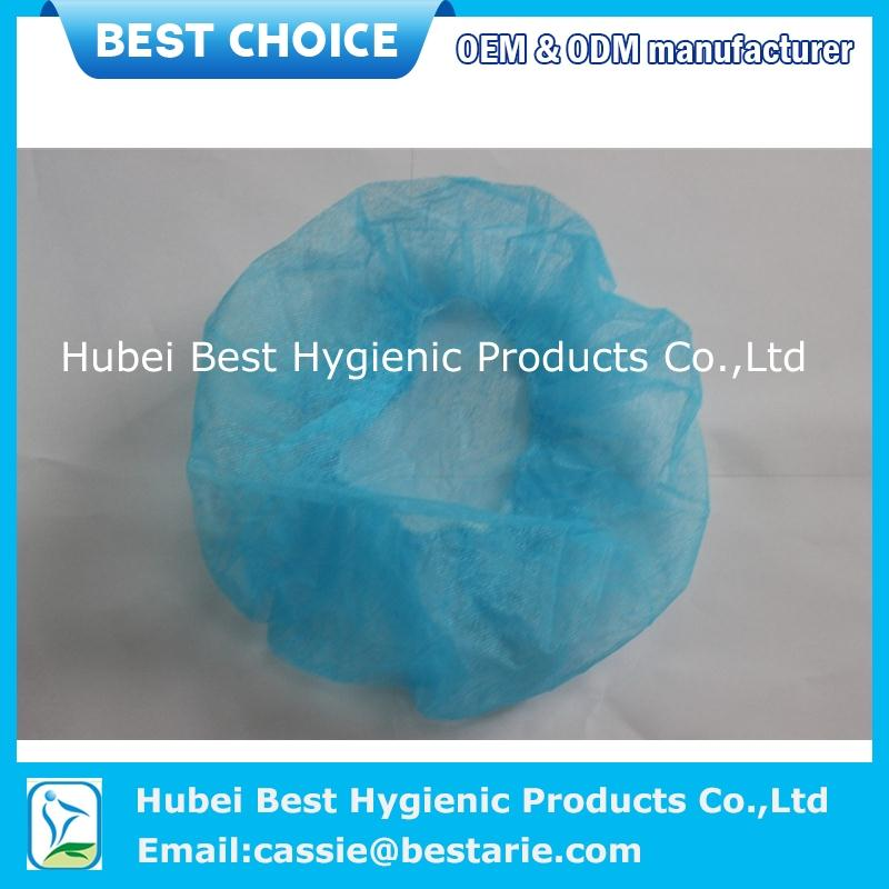 Yellow disposable hair nets