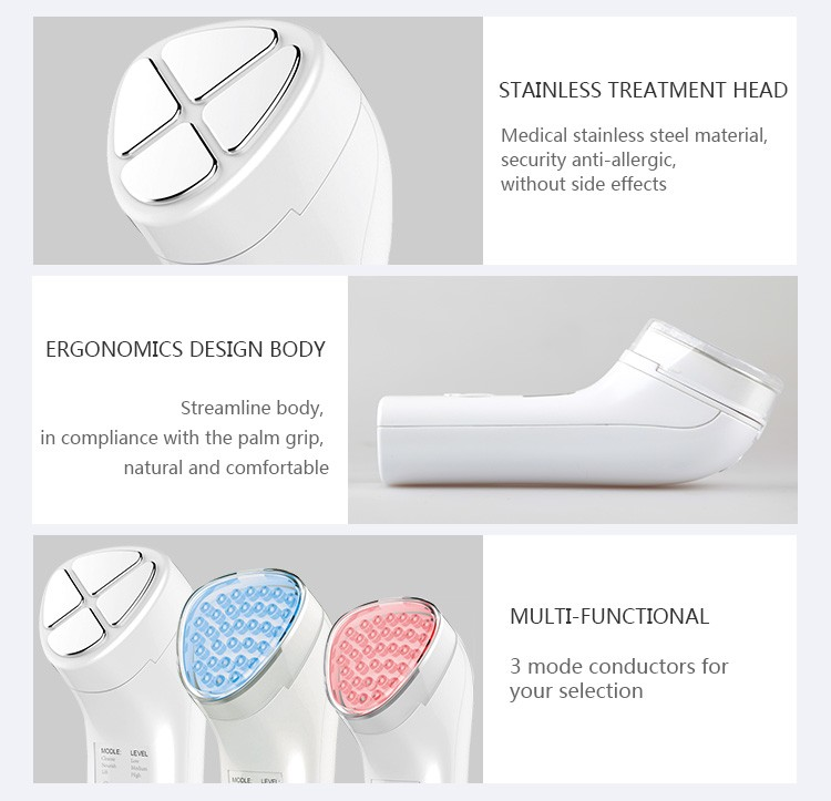 homemade beauty personal careNewest 3 in 1 Facial care Lift Massager ems ion led support oem and odm