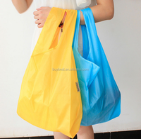 reusable foldable polyester shopping bag