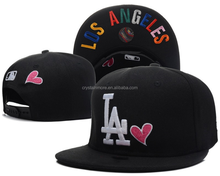 los angeles Black Color Baseball Fan Caps 3D Embroidery