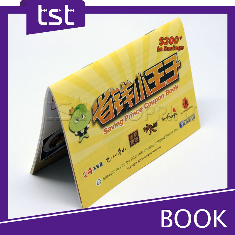 Taiwan Customized Printing Coupon Book for Promotion