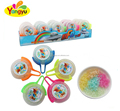 Popular Round colorful Fly Toy with Castal Sugar sweet Candy