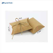 China fashionable large quantity brown paper pillow box