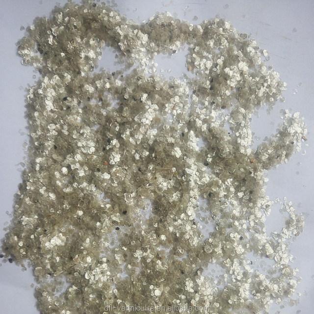 white/gold Mica flake mica scrap