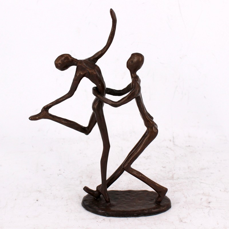 Home Decor Art Design Performance Cast Iron Loving Couple Figurine
