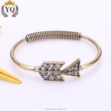 BYQ-00481 women charming gold arrow personalized wholesale price bracelet
