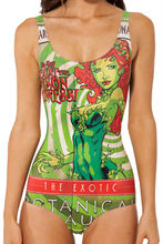 HOT 2014 Tankinis Set Sexy Bikini Bodysuit POISON IVY SWIMSUIT Digital Printing Swimwear Women S125-114