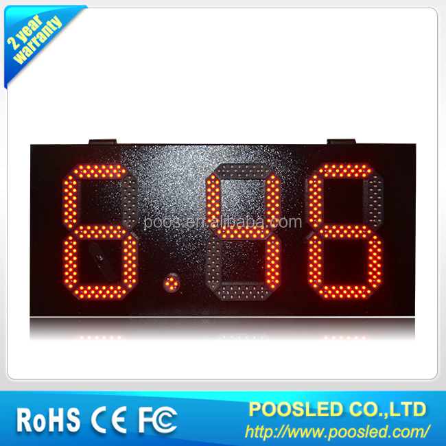 <strong>10</strong> inch 8.88 red waterproof led gas price sign/<strong>10</strong>'' red color outdoor led sign / POOSLED Remote control digital gas price sign