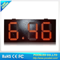 10 inch 8.88 red waterproof led gas price sign/POOSLED Remote control digital gas price sign/10'' red color outdoor led sign