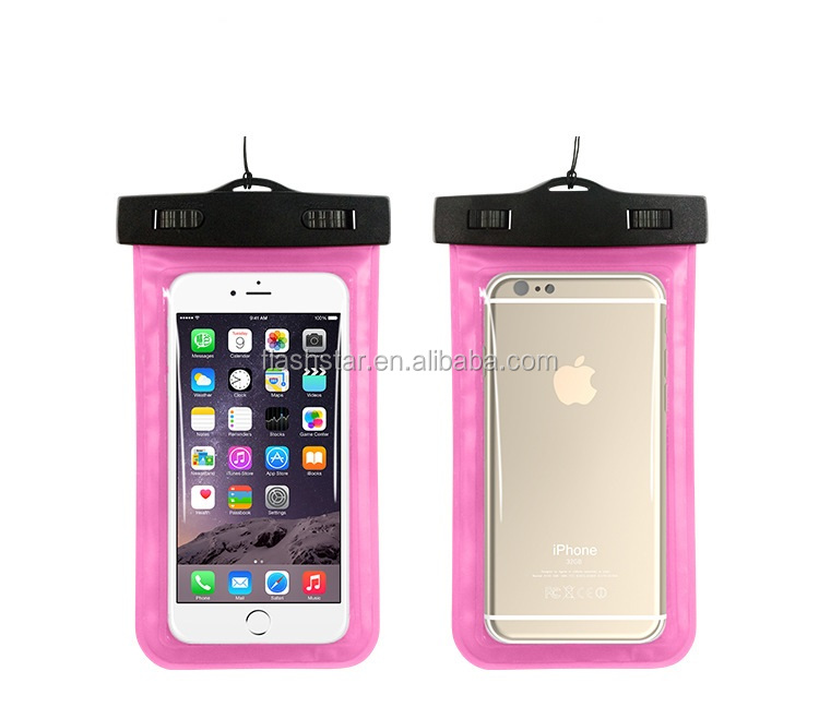 Waterproof pouch case for cell phones , 20m Water Resistant , Armband Mobilephone Waterproof Bag