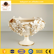 New arrival Jane European style modern grapes embossed ceramic flower vases