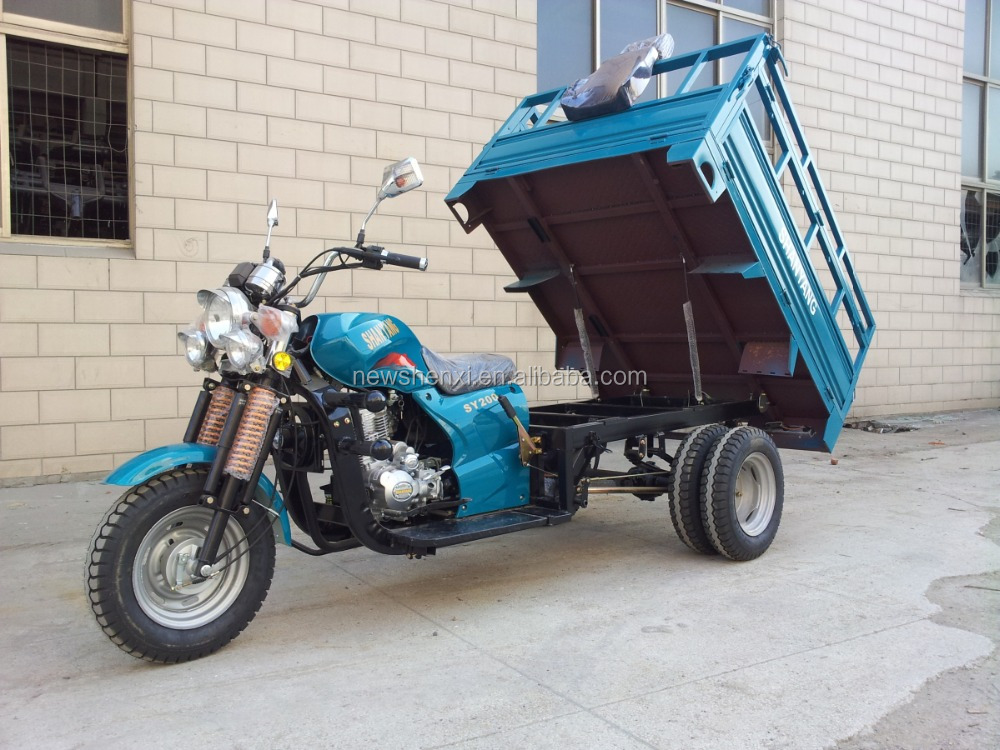 200cc Three wheel motorcycle with left steering wheel and a cab