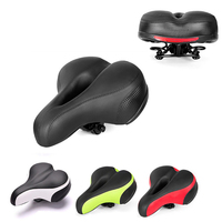 Widen Bicycle Saddle with Tail Light Thicken Road Bike Seat resistant MTB Saddle Bike Parts