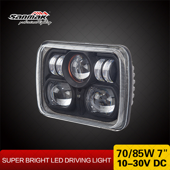 7x5 Car Accessories 70w 85w Truck LED Lighting H4 hi/ low Beam Accesories Headlight Rectangular 5x7 LED Sealed Beam Headlights