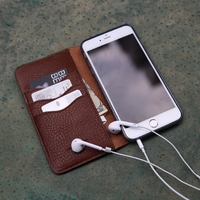 Mobile accessories Genuine Leather custom design cell phone case