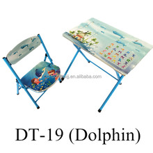DT-19 Children Folding Desk and Chai/Wooden School Chair and Desk/Combo Table and Chair