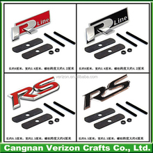 High value custom glossy plastic car badges auto emblems