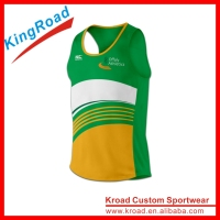 Wholesale cheap running tank top custom running vest for men