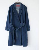 3607 D.Y fashion korea style ladies long denim coat