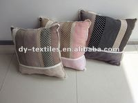 cotton&suede patchwork lace sofa cushion