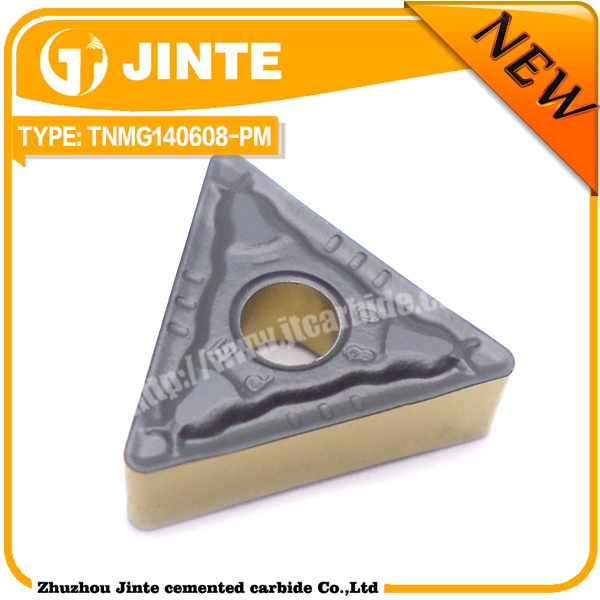 OEM service carbide tuning cutting tool TNMG140608-PM with Yellow&Black coating 4225