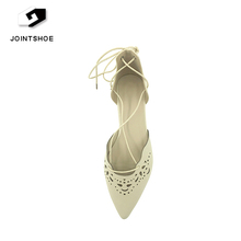 Spring Summer Women Flats Pointed Toe Ankle Strap Ballerina shoes