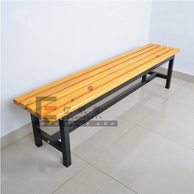 2018 Popular wooden long chair park bench slats standard size church pew supply