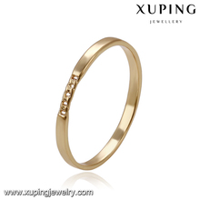 14168 Latest gold finger ring designs 18k gold color fashion simple ring without stone for girls