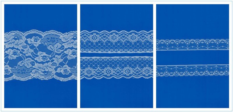 Lace trim ribbon fabric cotton dubai/factory price polyester cotton fabric