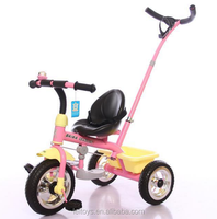 Hot sale 2 in 1 push&foot power car children tricycle toy with push bar and EVA wheel for best quality and low price