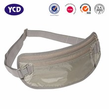 Fashion Compact Security Pouch Hidden Travel RFID Waist Money Belt Bag